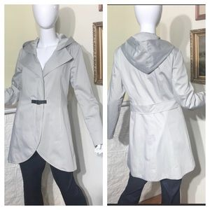 SOIA & KYO Trench Coat with Detachable Hood